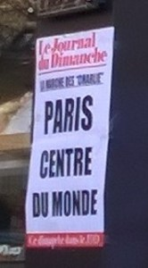 Journal du Dimanche ad on 11 JAN 2015 -- Paris: centre du monde